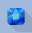 perfect sapphire icon flat style vector image vector image