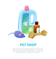 pet shop poster text sample vector image