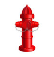 realistic 3d detailed red fire hydrant vector image vector image