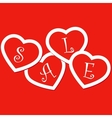 Sale hearts tags stickers vector image vector image