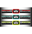 scoreboard elements collection vector image vector image