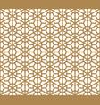 seamless pattern based on japanese ornament kumiko vector image vector image