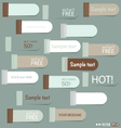 Set of colorful paper tags vector image