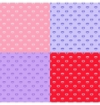 set of heart seamless patterns vector image vector image
