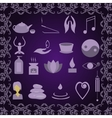 Set of icons meditation vector image vector image