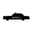 sheriff car vector image