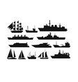 ships and boats vector image vector image