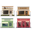 shops and stores icons set vector image vector image