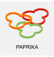 sliced paprika icon isometric style vector image