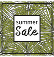summer sale with decorative tropical pattern vector image vector image