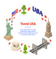 symbol of usa banner card circle concept travel vector image vector image