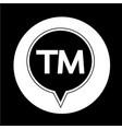 trademark button vector image