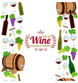 vertical seamless borders of wine icons vector image vector image