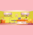 veterinary clinic interior vet with furniture vector image vector image