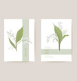 wedding lily floral save date set vector image vector image