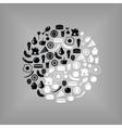 yin yang food vector image vector image