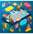 Isometric smartphone infographic vector image