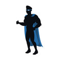 silhouette of a superhero posing vector image