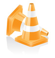 icon traffic cone vector image