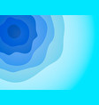 abstract blue waves background vector image vector image