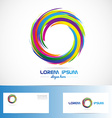 Abstract circle business logo colors vector image vector image