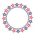 american flag symbols stars round border vector image