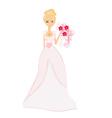 Beautiful bride vector image vector image