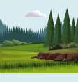 beautiful nature landscape vector image vector image
