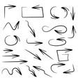 black filigree arrows set hand drawn elements vector image vector image