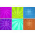 bright striped backgrounds for comic bubbles vector image