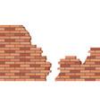 broken brick wall 3d view brick stone wall ruined