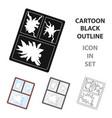 broken window icon in cartoon style isolated on vector image vector image