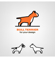 Bull terrier icon vector image vector image