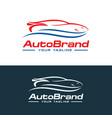 car logo auto company logo template design vector image