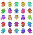 cartoon monsters smilies set vector image