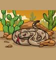 cartoon rattle snake vector image vector image