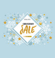 christmas new year winter sale banner poster vector image