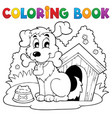 coloring book dog theme 1 vector image vector image