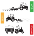 crop growing and harvesting agriculture vector image