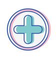 cross medicine symbol to help the people vector image vector image