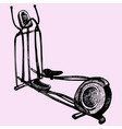 cross trainer vector image vector image