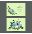 Cute invitation template with flower decoration vector image vector image
