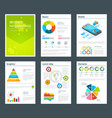 design template of business annual reports vector image