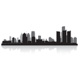 Detroit USA city skyline silhouette vector image vector image