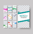 dig set white vertical web banners with space vector image vector image