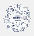 digital marketing elements collection vector image vector image