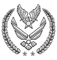 doodle us military wreath airforce modern vector image vector image
