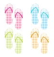 flip flop collection vector image vector image