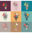 flower bouquet collection botanical floral decor vector image