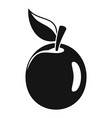 fresh apricot icon simple style vector image